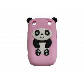 Coque pour Blackberry Curve 9320 silicone panda rose oreilles noires + film protection écran offert
