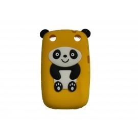 Coque pour Blackberry Curve 9320 silicone panda jaune oreilles noires + film protection écran offert