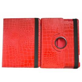 Pochette Ipad 2/3 nouvel Ipad simili-cuir rouge crocodile + film protection écran
