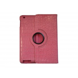 Pochette Ipad 2/3 nouvel Ipad simili-cuir rose crocodile + film protection écran