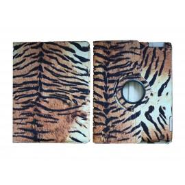 Pochette Ipad 2/3 nouvel Ipad simili-cuir tigre + film protection écran