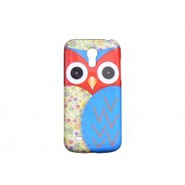 Coque pour Samsung Galaxy S4 Mini / I9190 hibou rouge + film protection écran offert