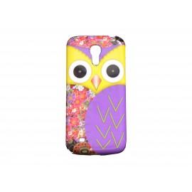 Coque pour Samsung Galaxy S4 Mini / I9190 hibou jaune + film protection écran offert