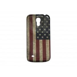 Coque pour Samsung Galaxy S4 Mini / I9190 drapeau USA vintage + film protection écran offert