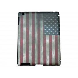 Pochette Ipad 2/3 nouvel Ipad drapeau USA/Etats-Unis vintage version 6 + film protection écran
