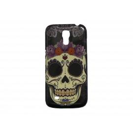 Coque pour Samsung Galaxy S4 Mini / I9190 tête de mort couronne roses+ film protection écran offert