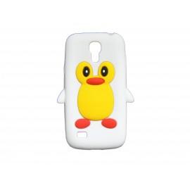 Coque silicone pour Samsung Galaxy S4 Mini / I9190 pingouin blanc + film protection écran offert