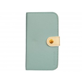Pochette Etui à rabat pour Samsung I9300 simili-cuir bleu ciel  + film protectin écran