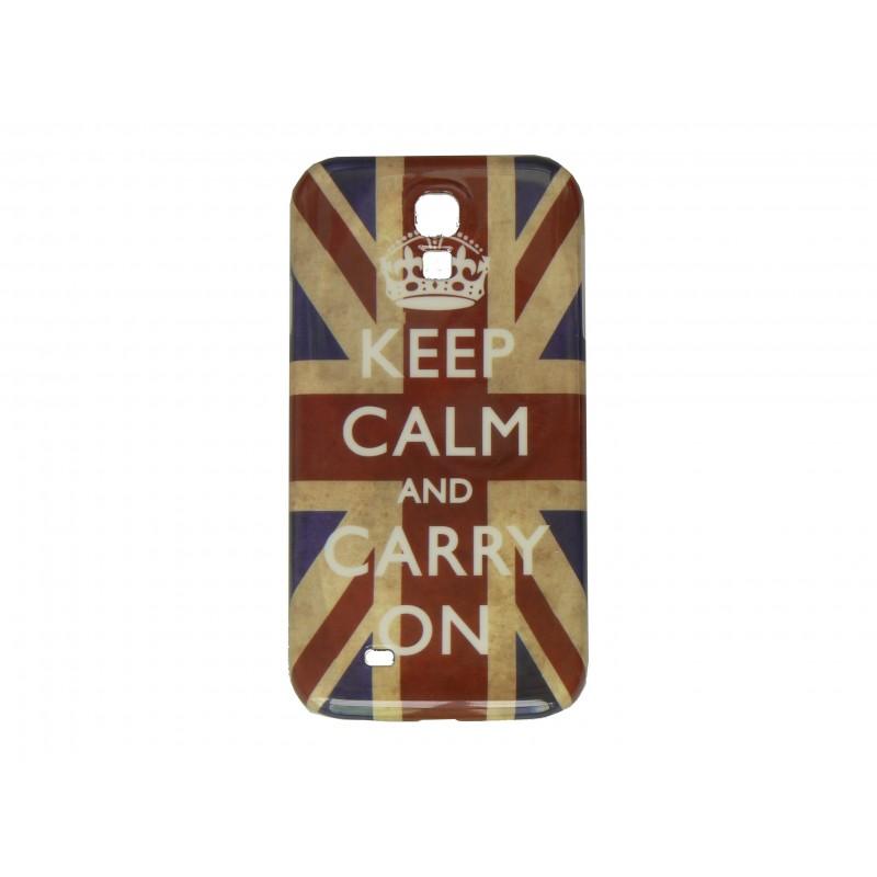 Coque pour Samsung Galaxy S4 / I9500 drapeau UK Angleterre Keep Calm film protection écran offert