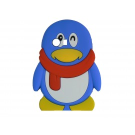 Coque silicone pour Samsung Galaxy Y/S5360 pingouin bleu écharpe rouge + film protection écran offert