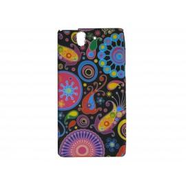 Coque silicone pour Sony Xperia Z cachemire multicolore + film protection écran