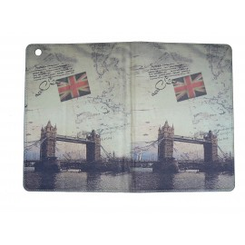 Pochette Ipad mini drapeau Angelette/UK Tower Bridge+ film protection écran