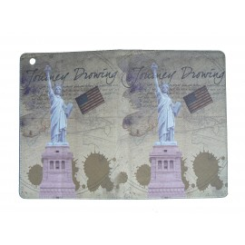 Pochette Ipad mini drapeau Etats-Unis/USA Statue de la Liberté+ film protection écran