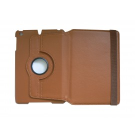 Pochette Ipad Mini simili-cuir marron + film protection écran offert