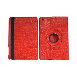 Pochette Ipad Mini simili-cuir serpent rouge + film protection écran offert