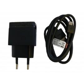 Chargeur secteur + cable USB d'origine Sony EP800