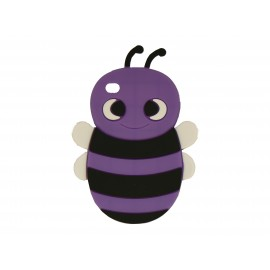 Coque silicone pour Ipod Touch 4 abeille violette + film protection écran