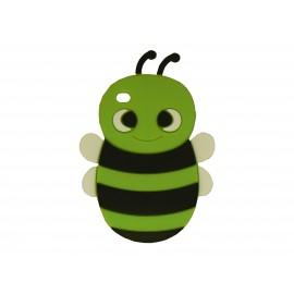 Coque silicone pour Ipod Touch 4 abeille verte + film protection écran