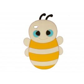 Coque silicone pour Ipod Touch 4 abeille blanche + film protection écran