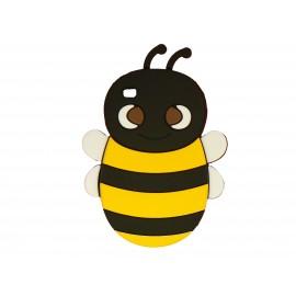 Coque silicone pour Ipod Touch 4 abeille noire + film protection écran