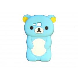Coque silicone pour Samsung Galaxy Trend/S7560 ourson bleu turquoise + film protection écran offert
