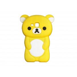 Coque silicone pour Samsung Galaxy Trend/S7560 ourson jaune + film protection écran offert