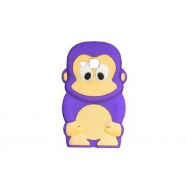 Coque silicone pour Samsung Galaxy Trend/S7560 singe violet + film protection écran offert
