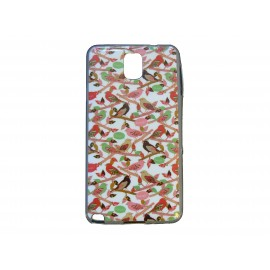 Coque pour Samsung Galaxy Note 3/N9000 petits oiseaux + film protection écran offert