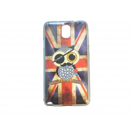 Coque pour Samsung Galaxy Note 3/N9000 UK/Angleterre hibou  + film protection écran offert