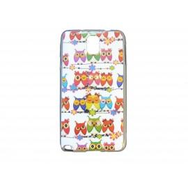 Coque pour Samsung Galaxy Note 3/N9000 chouettes multicolores version 2 + film protection écran offert