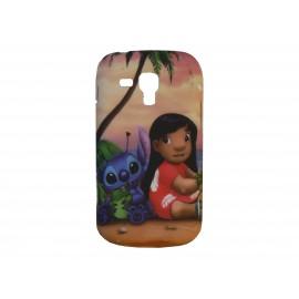Coque silicone pour Samsung Galaxy Trend/S7560 petite fille + film protection écran offert