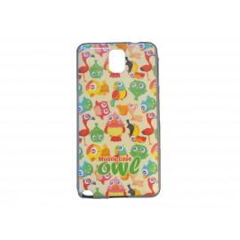 Coque TPU pour Samsung Galaxy Note 3/N9000 oiseaux multicolores  + film protection écran offert