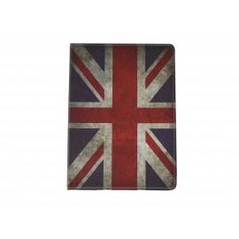 Pochette Ipad Air drapeau UK/Angleterre vintage + film protection écran