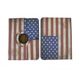 Pochette pour Samsung Tab 3 10.1 P5200 USA/Etats-Unis vintage + film protection écran