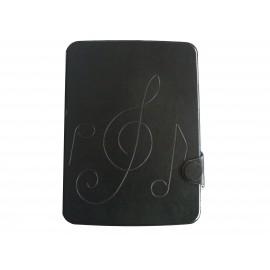 Pochette pour Samsung Tab 3 10.1 P5200 simili-cuir noire + film protection écran