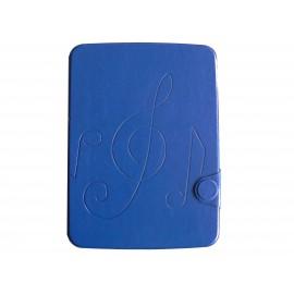 Pochette pour Samsung Tab 3 10.1 P5200 simili-cuir bleue + film protection écran