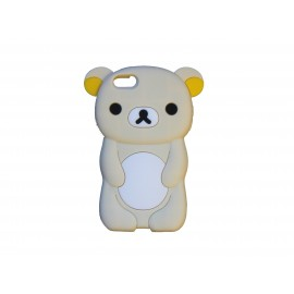 Coque silicone pour Iphone 5C ourson beige + film protection écran