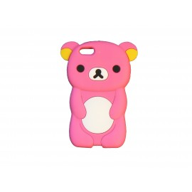 Coque silicone pour Iphone 5C ourson rose bonbon + film protection écran
