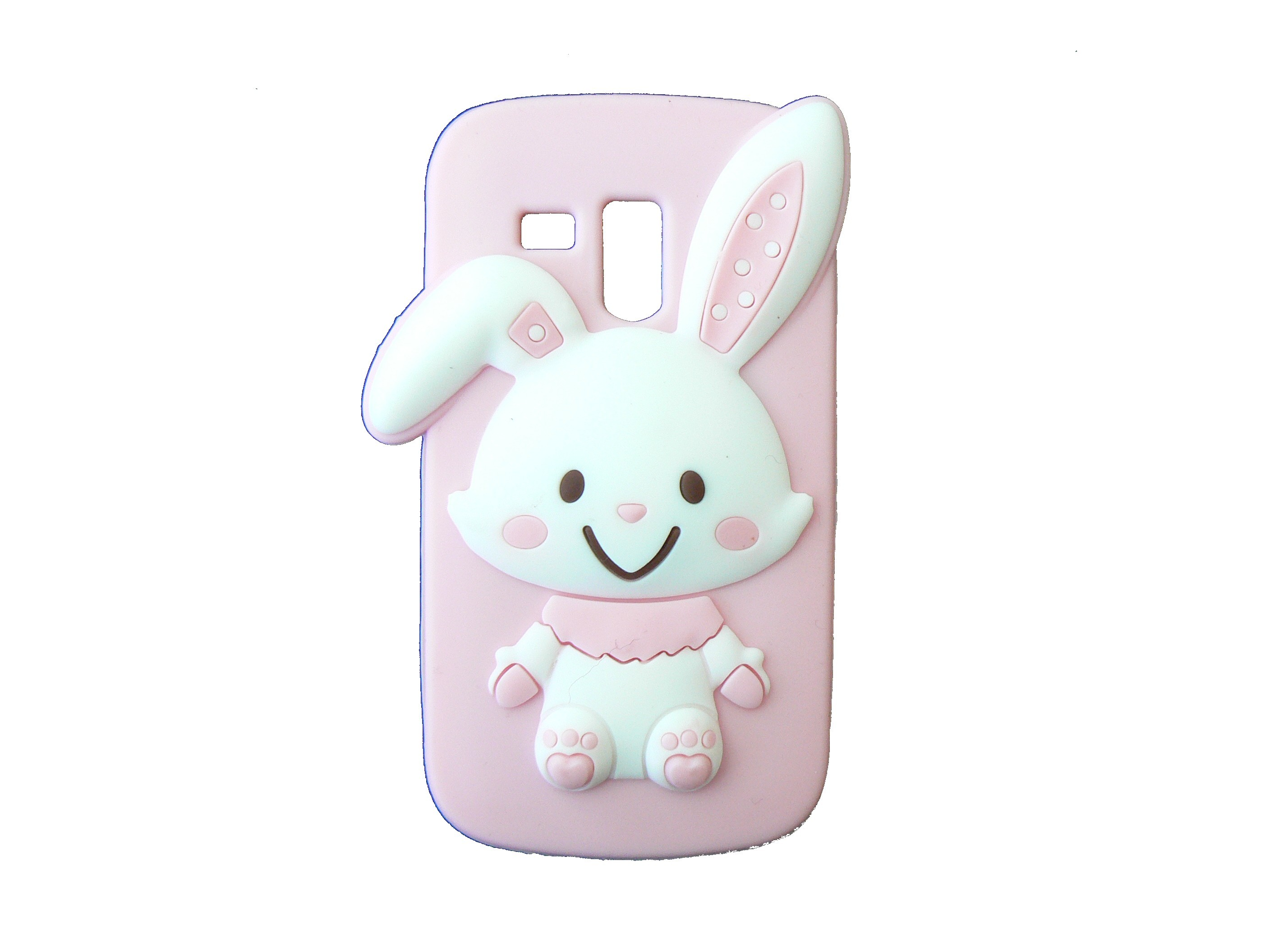 Coque silicone rose pour Samsung Galaxy Trend/S7560 lapin blanc