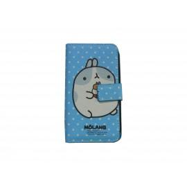 Pochette pour Samsung S7560 Galaxy Trend bleue nounours blancs + film protectin écran