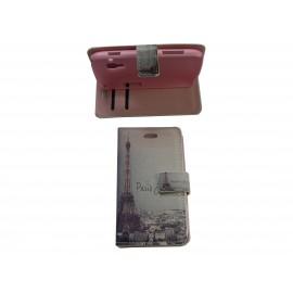 Pochette pour Samsung S7560 Galaxy trend Tour Eiffel Paris + film protectin écran
