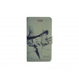Pochette pour Samsung S7560 Galaxy trend dame chapeau + film protectin écran