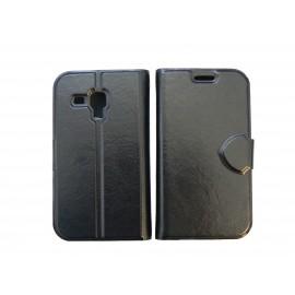 Pochette pour Samsung S7560 Galaxy trend noire + film protectin écran