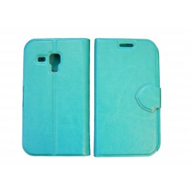 Pochette pour Samsung S7560 Galaxy trend bleue + film protectin écran