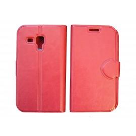 Pochette pour Samsung S7560 Galaxy trend rouge + film protectin écran
