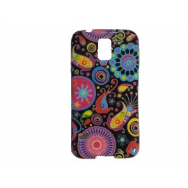 Coque TPU Samsung Galaxy S5 G900 cachemire multicolore + film protection écran offert