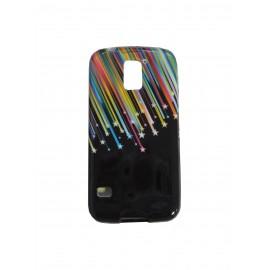 Coque TPU Samsung Galaxy S5 G900 noire étoiles filantes  + film protection écran offert