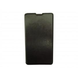 Pochette simili-cuir pour Nokia Lumia 1320 noire  + film protection écran