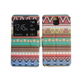 Pochette pour Samsung Galaxy Note 3 N9000 simili-cuir Maya + film protection écran