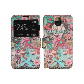 Pochette pour Samsung Galaxy Note 3 N9000 simili-cuir scrapping + film protection écran